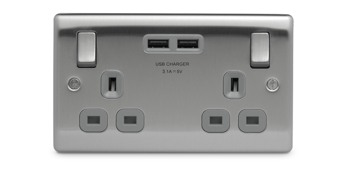 Upgrade two gang USB socket